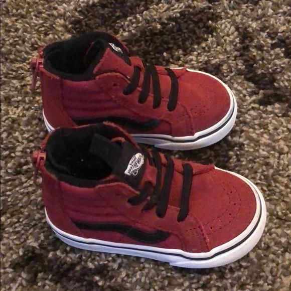Vans Shoes | Vans Toddler 5c 5 Red
